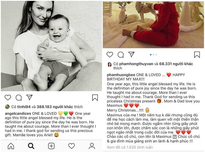 Phạm Hương bị tố sao chép lời nhắn gửi con của 'Thiên thần nội y' Candice Swanepoel