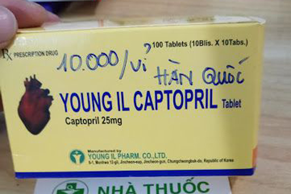 Thu hồi thuốc tim mạch Young II Captopril