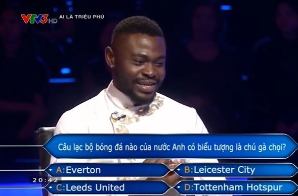 'Ai là triệu phú' đặt sai câu hỏi cho người chơi