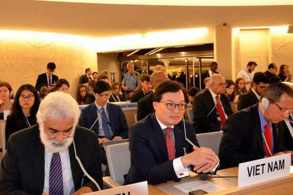 Vietnam actively contributes to drafting resolutions and co-sponsoring many initiatives