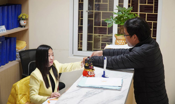Advantage of on-line administrative procedures
