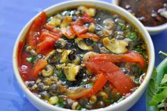 Vietnamese food: Snail noodle soup