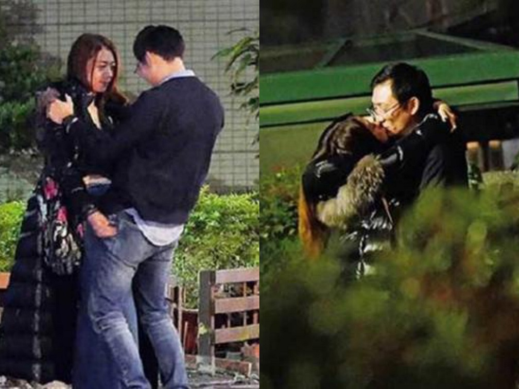 Diva Đài Loan hôn say đắm người đàn ông đã có vợ con