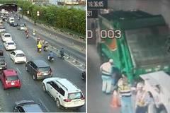 Giao thông tê liệt vì xe chở rác nằm 'bất động' giữa hầm Thủ Thiêm