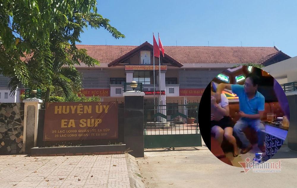 Phó bí thư huyện ở Đắk Lắk sờ ngực nữ tiếp viên quán karaoke bị quay clip