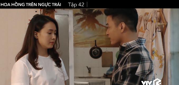 'Hoa hồng trên ngực trái' tập 42, Khuê chê Bảo quá sến, Thái viết lời cuối cho con