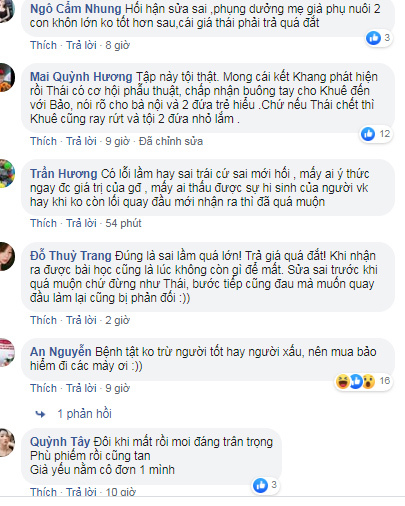 Ngọc Quỳnh mắng fan khi chia buồn vì Thái 'Hoa hồng trên ngực trái' sắp chết