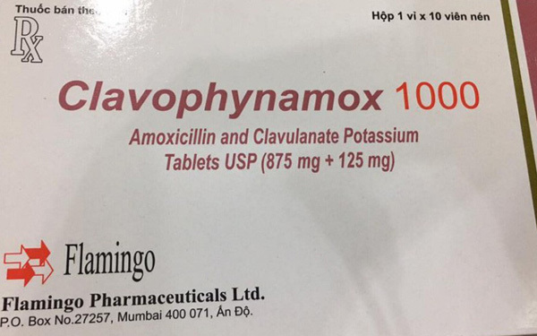 Thuốc Clavophynamox 1000 bị thu hồi do không đạt chất lượng