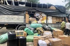 Xe tải chở hơn 1 tấn hàng không rõ nguồn gốc bị bắt ở Quảng Nam