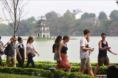 Foreign tourists visits to Hanoi sharply rise