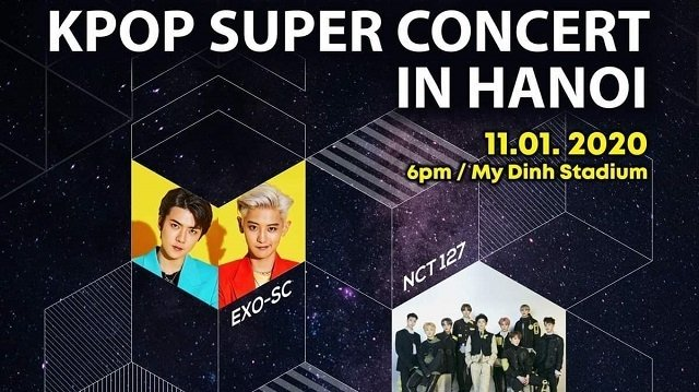 k-pop Super Concert,my dinh stadium,hanoi,EXO-SC,NCT 127,ELRIS,ACE