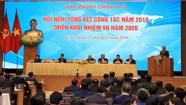 Government Office reviews 2019 work and set 2020 tasks
