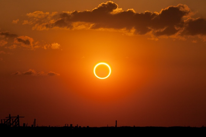 'Ring of fire' annual solar eclipse visible in Vietnam