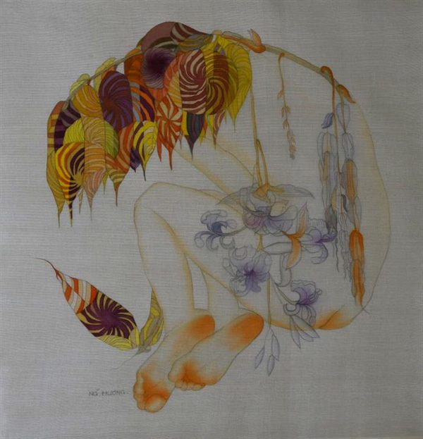 Female artist to showcase silk paintings