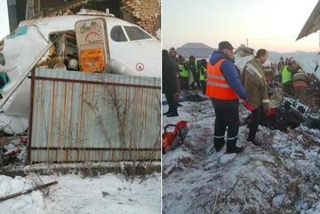Máy bay chở trăm người lao vào nhà tầng, rơi xuống đất ở Kazakhstan