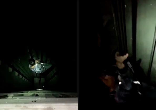 Số phận của chàng trai bước vào thang máy không đáy