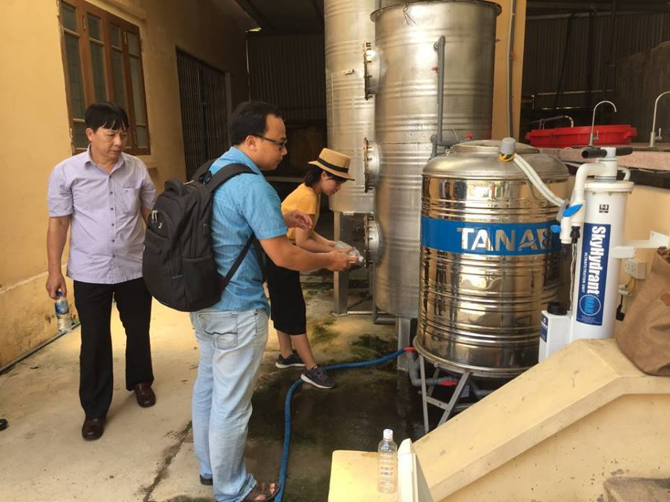 Chàng tiến sĩ tâm huyết với việc xử lý nước bẩn ở nông thôn