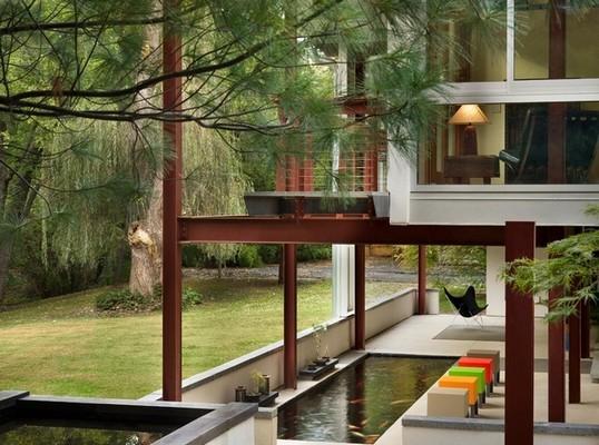 Vẻ đẹp như dải ngân hà của nhà bên hồ nhỏ tự tạo đa màu sắc gia đình nào có thể sở hữu