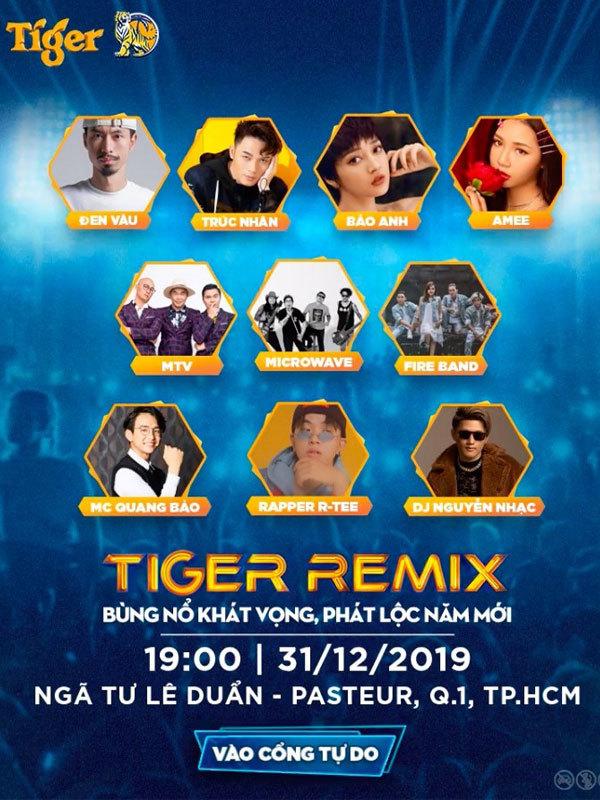 Dàn sao đình đám tụ hội Tiger Remix 2020