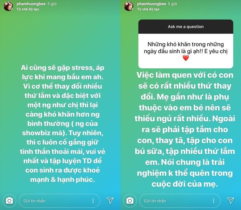 Phạm Hương bị stress khi mang bầu và bí quyết lấy lại vóc dáng