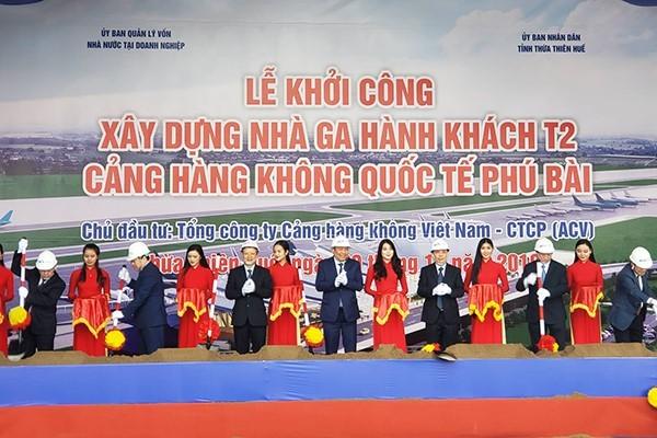 Khởi công nhà ga T2 sân bay Phú Bài 2.250 tỷ