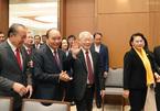 Hình ảnh Tổng bí thư, Chủ tịch nước dự hội nghị trực tuyến Chính phủ
