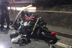 Lao vào đầu xe container, người đàn ông đi mô tô phân khối lớn chết thảm