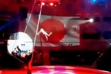 Nữ nghệ sĩ xiếc rơi từ độ cao 6m, khán giả nhí kinh hoàng