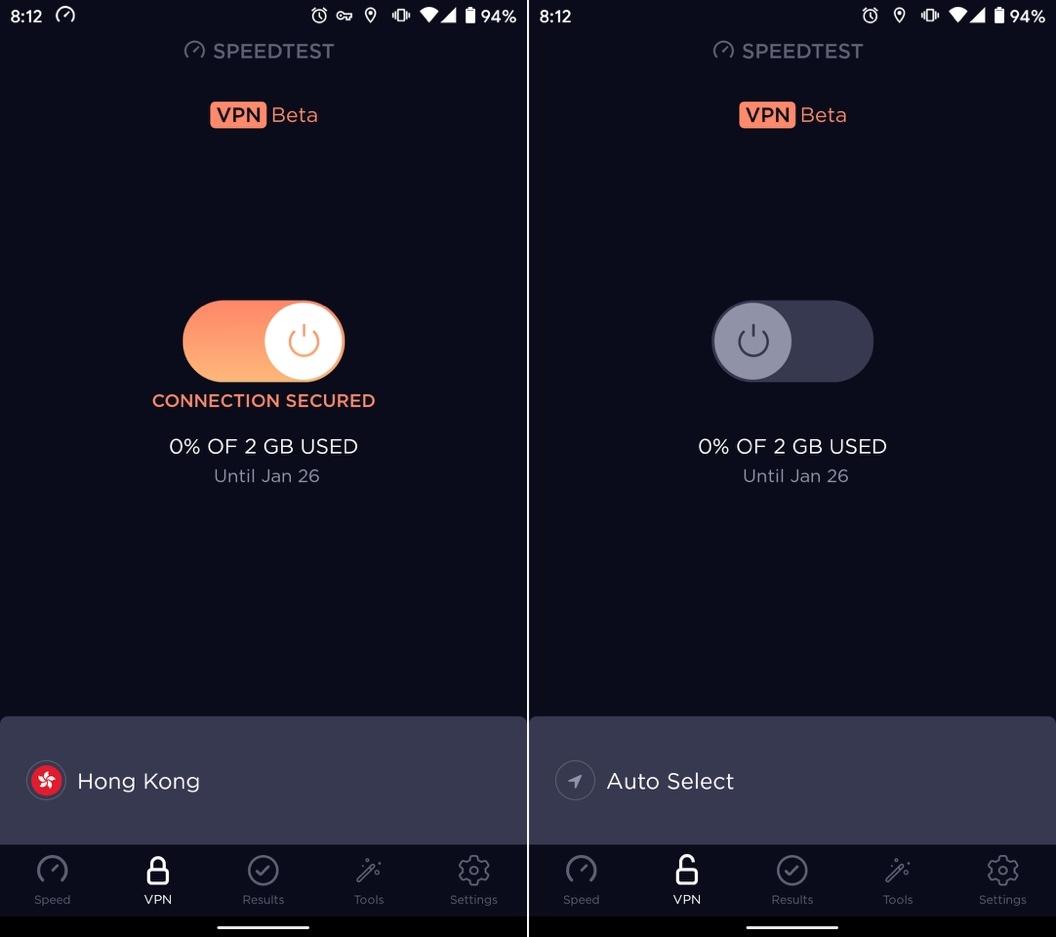 Cách sử dụng ứng dụng VPN của Speedtest trên Android