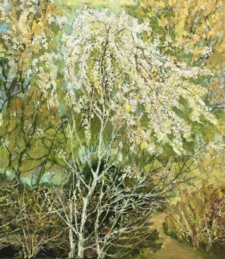 Paintings show nature in time between seasons
