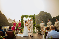 Wedding cruises in Ha Long Bay with Indochina Sails