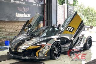 """Đại gia Dương """"Kon"""" đem siêu xe McLaren độc nhất Việt Nam làm đẹp đón năm mới"""