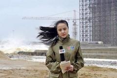 Không ngờ nữ MC VTV gây sốt vì dẫn sóng giữa trời mưa bão đời thường lại thế này