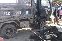 Lật xe tải, nữ sinh Quảng Ninh bị đất nhão vùi lấp