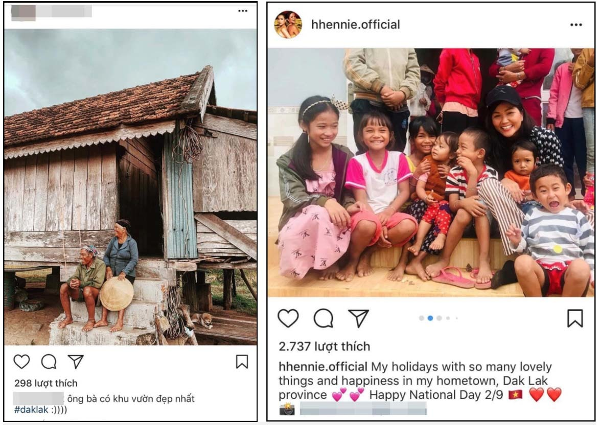 H'Hen Niê và bạn trai tin đồn thể hiện tình cảm trên mạng xã hội