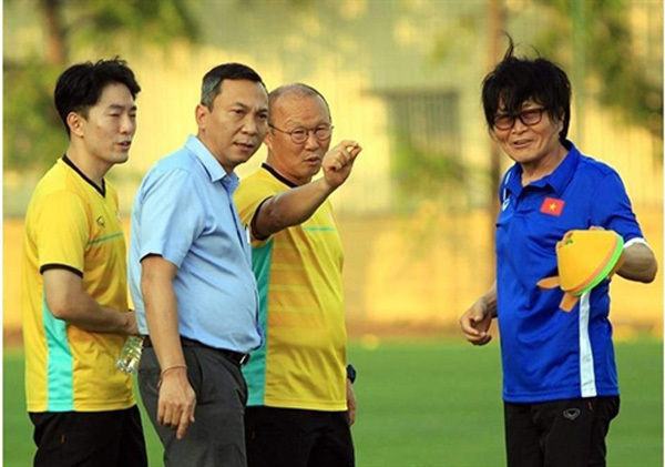 Korean sports health expert works gives footballers helping hand