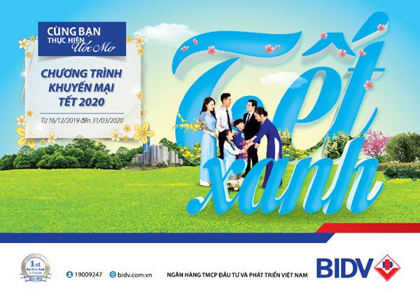 BIDV dành 42 tỷ đồng tặng khách hàng 'Tết xanh'