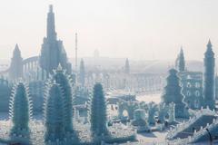 Thành phố băng tuyết khổng lồ ở Trung Quốc