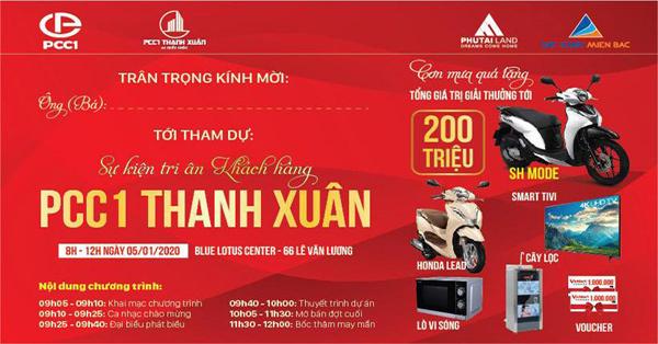 Chủ đầu tư PCC1 Thanh Xuân chi 'quà khủng' tri ân khách hàng