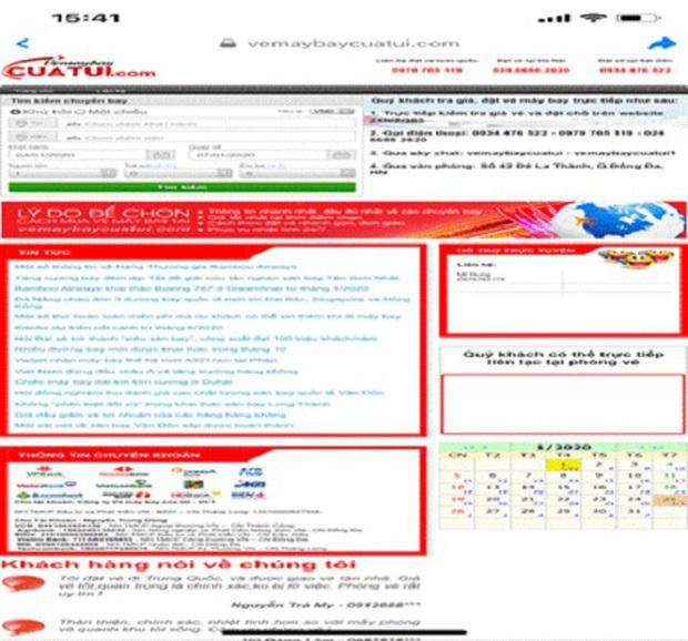 Cận Tết tái diễn trò lừa đảo vé máy bay giá rẻ