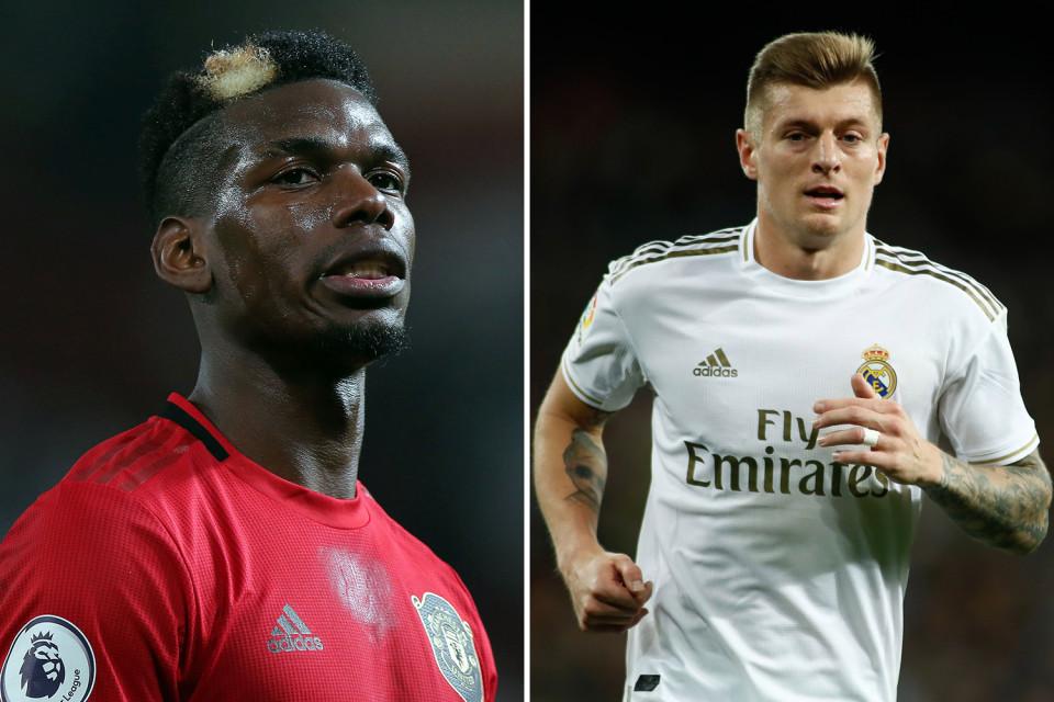 MU,Real Madrid,Paul Pogba,Toni Kroos