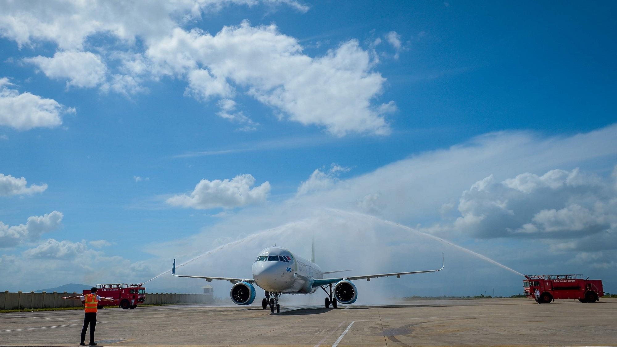 Quy Nhơn đón chuyến bay Bamboo Airways đầu tiên từ Cheongju, Hàn Quốc