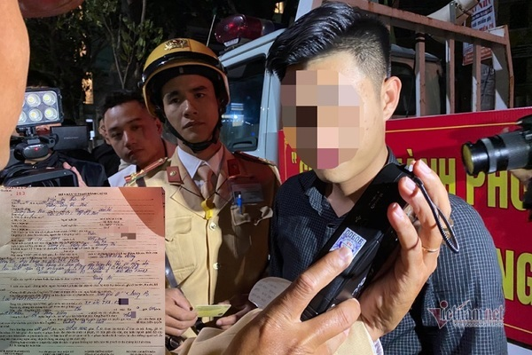 Bị phạt 35 triệu, tài xế có hơi men xưng báo chí xin bỏ qua