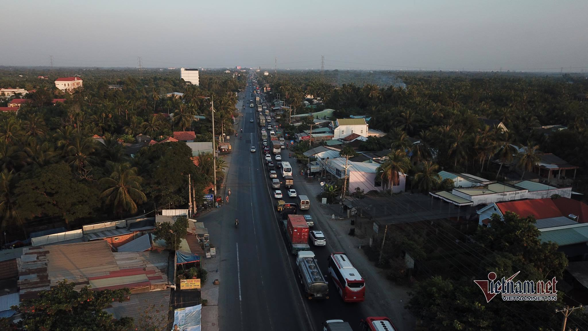 kẹt xe,Tiền Giang,ùn tắc giao thông,an toàn giao thông