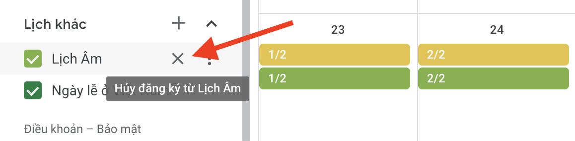 Cách xem lịch âm và các ngày lễ ở Việt Nam từ Google Calendar