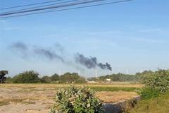 Wind turbine destroyed by fire in Binh Thuan