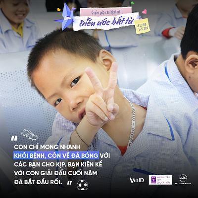 Góp quỹ 'Điều ước bất tử' cho bệnh nhi ung thư trên VinID
