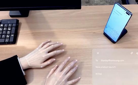CES 2020: Samsung trình diễn công nghệ bàn phím vô hình dành cho smartphone