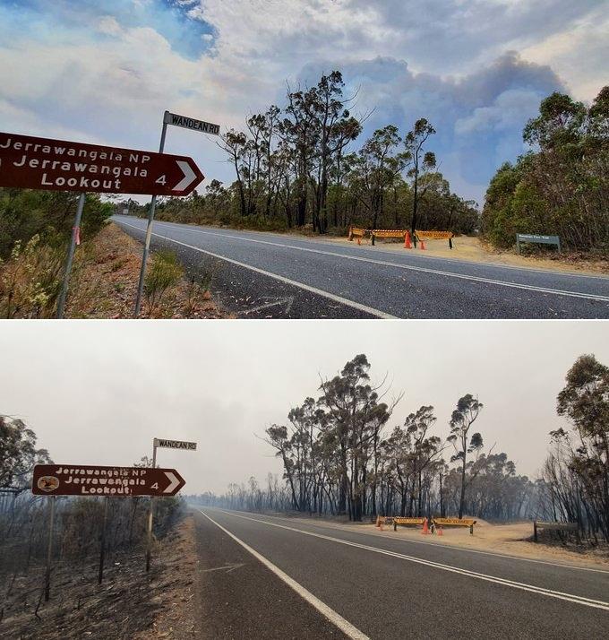 Hình ảnh trước và sau thảm họa cháy rừng khủng khiếp ở Australia