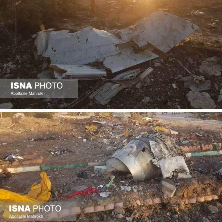 Hình ảnh hiện trường máy bay rơi ở Iran, hơn trăm người chết